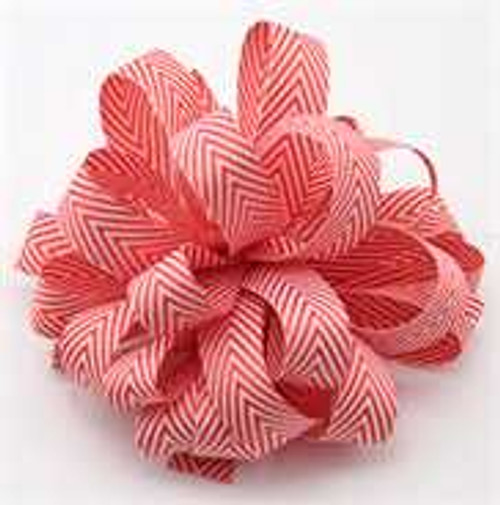 Kessie Twill Chevron Ribbon Red