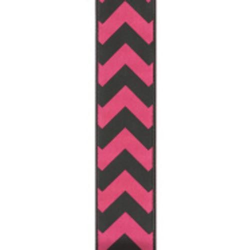 Bold-Wired Edge Shocking Pink / Black Chevron