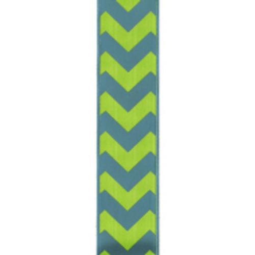 Bold-Wired Edge Turquoise / Citrus Chevron