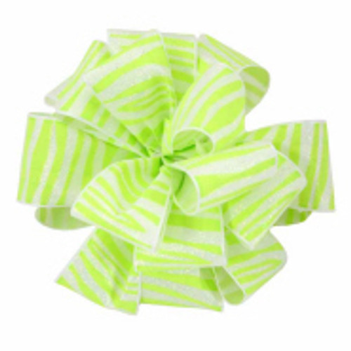 New Chartruse Zebra Crystal Ribbon