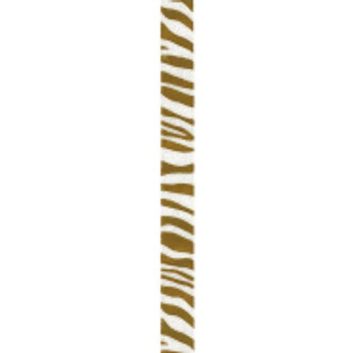 Old Gold Zebra Crystal Ribbon