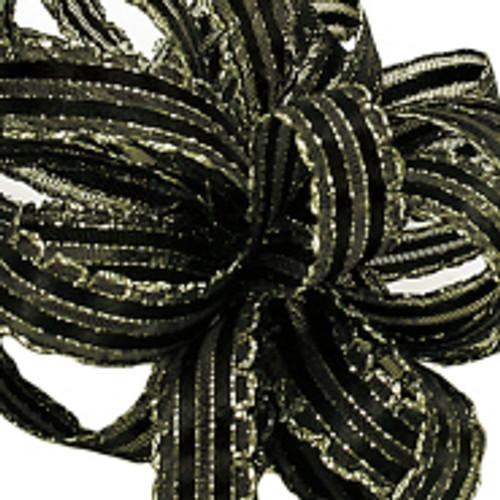Kendra Black Gold Ribbon
