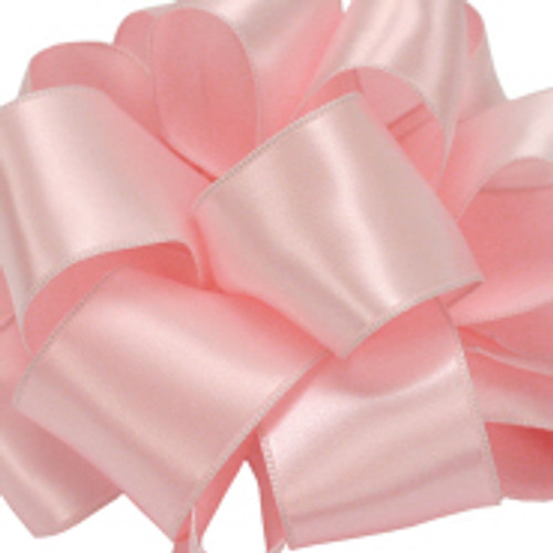 "4"" Powder Pink Wired Contessa Satin Ribbon"
