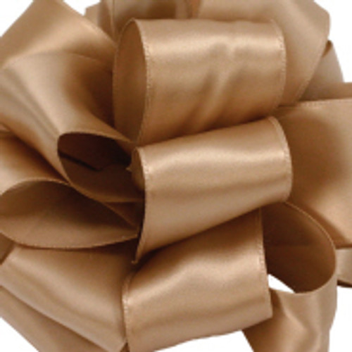 "4"" Champagne Wired Contessa Satin Ribbon"