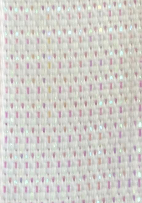 White Wired Metallic Ribbon - Starleene