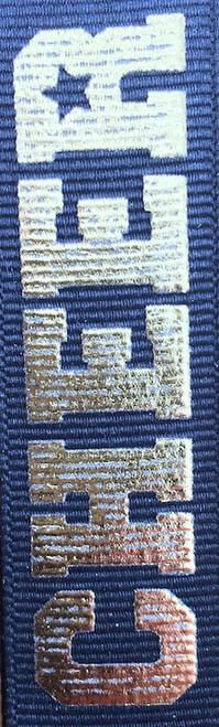 Black / Gold Printed Cheer Ribbon