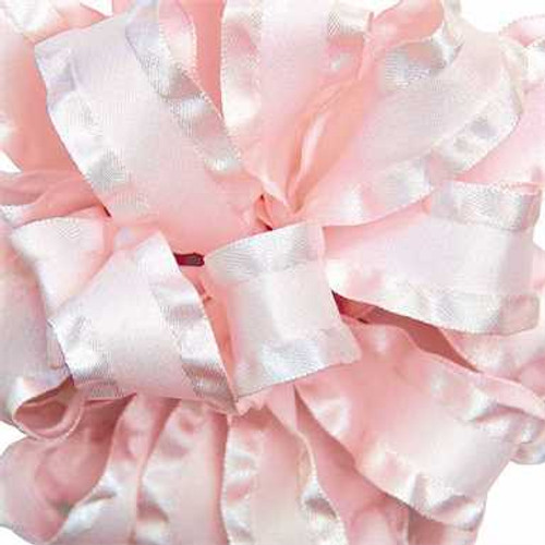 Powder Pink double ruffle narrow satin