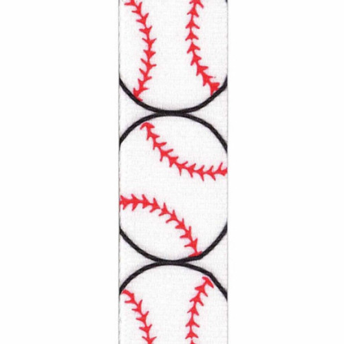 Baseball Grosgrain Sports Ribbon