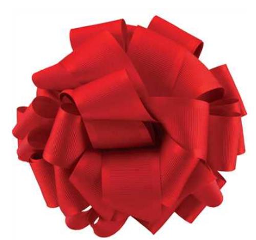 Red Satin Grosgrain Ribbon