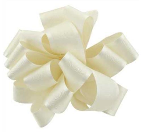 Antique White Satin Grosgrain Ribbon