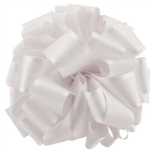 White Satin Grosgrain