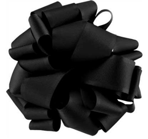 Black Satin Grosgrain