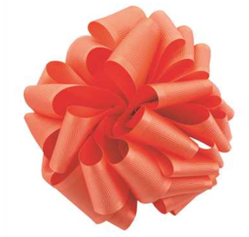 Living Coral Satin Grosgrain