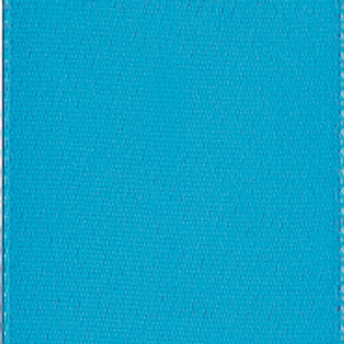 Turquoise Single Faced Satin Ribbon For Weddings and Occasions.
