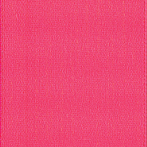 Shocking Pink Single Faced Satin Ribbon