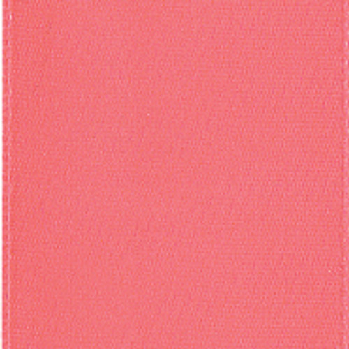 Coral Rose Single Faced Satin Ribbon