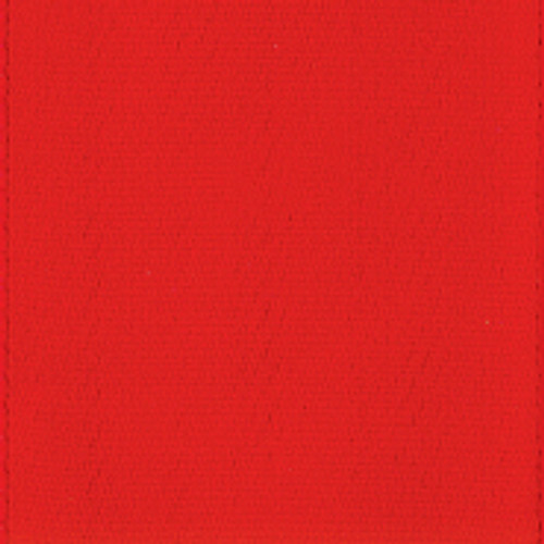 Hot Red Single Faced Satin Ribbon