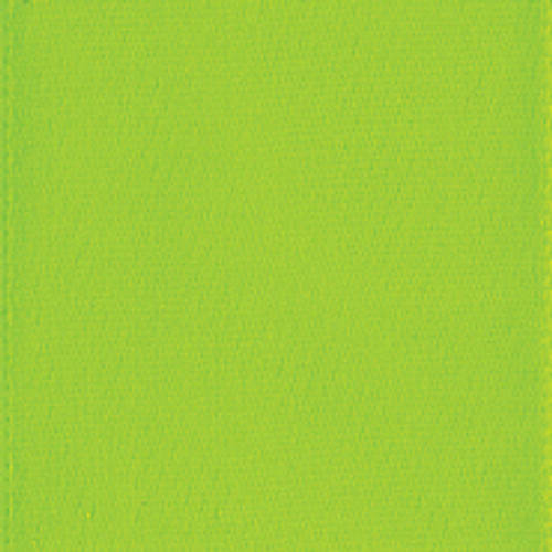 New Chartreuse Single Faced Satin Ribbon