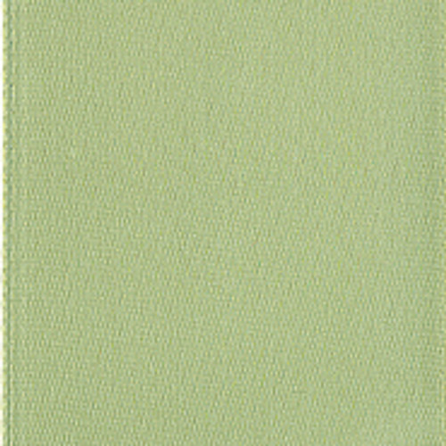 Spring Moss Single Faced Satin Ribbon