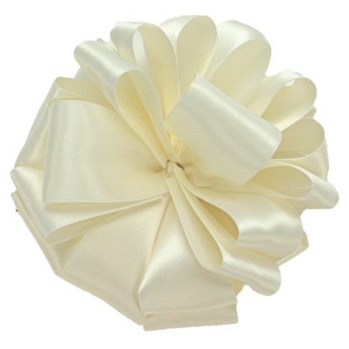 Antique White Wholesale Double Faced Satin Ribbon.