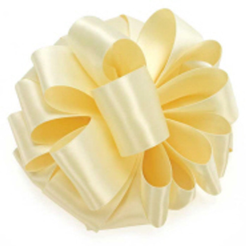 Wholesale Cream Double Faced Satin Ribbon.
