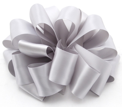 Shell Grey Wholesale Double Faced Satin Ribbon.