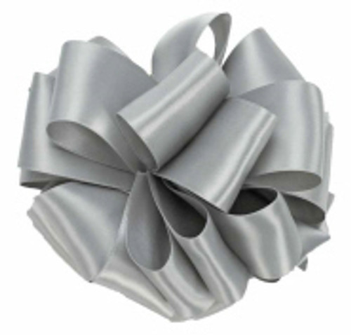 Wholesale Silver Double Faced Satin Ribbon.