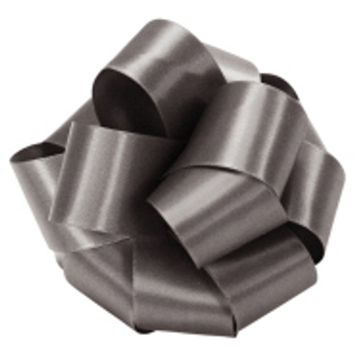 Pewter Double Faced Satin Ribbon at Wholesale Prices.