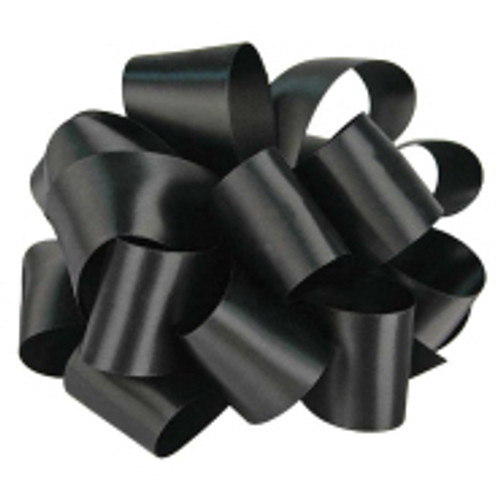 Black Wholesale Double Faced Satin Ribbon.