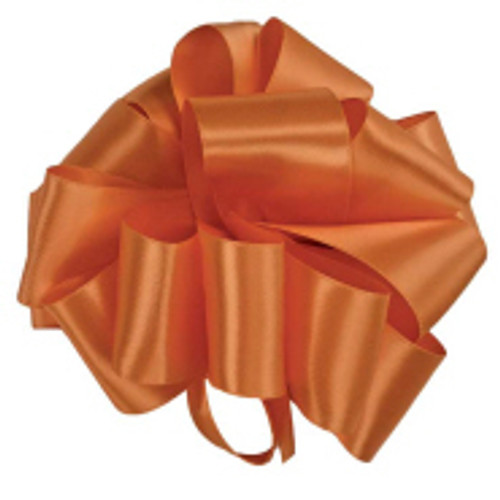 Burnt Sienna Double Faced Satin Ribbon
