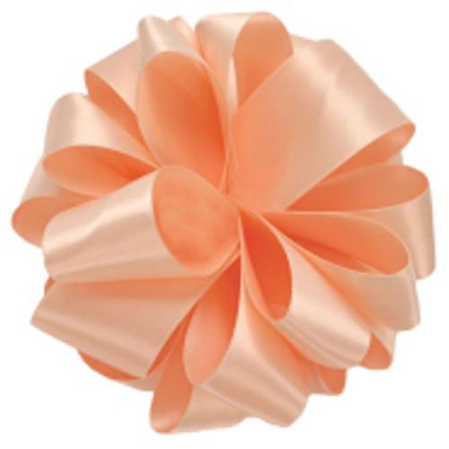 Petal Peach Double Faced Satin Ribbon