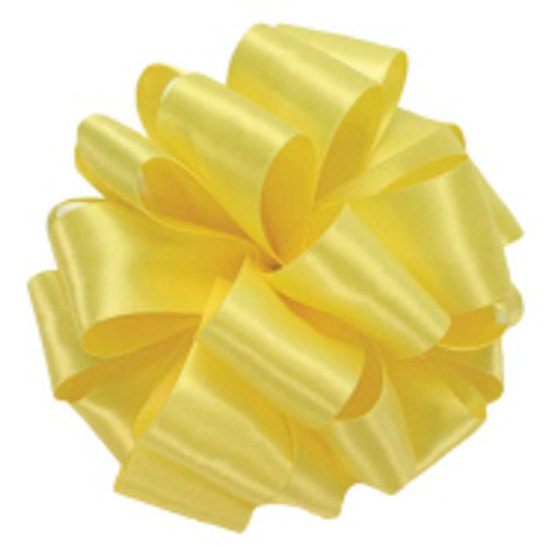 Lemon Double Faced Satin Ribbon