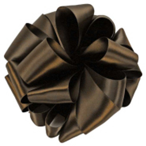 Brown Double Faced Satin Ribbon
