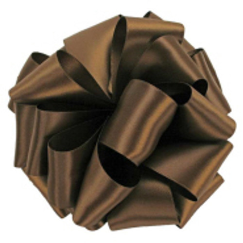 Milk Chocolate Double Faced Satin Ribbon