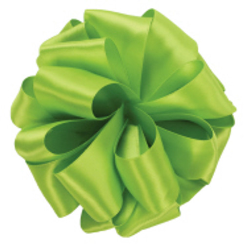 New Chartreuse Double Faced Satin Ribbon