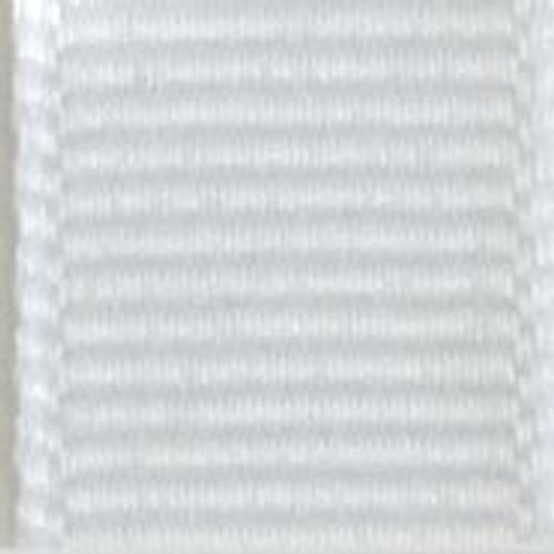 White Solid Grosgrain Ribbon