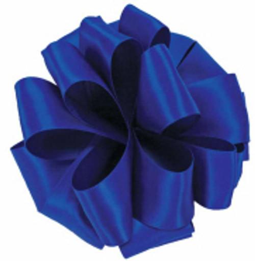 Cobalt Double Faced Satin Ribbon
