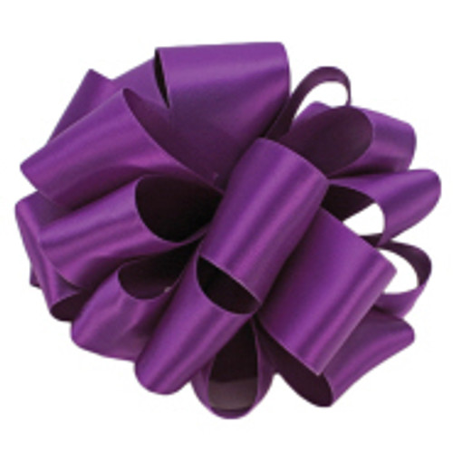 Purple Double Faced Satin Ribbon