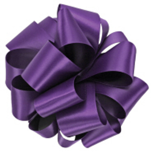 Regal Purple Double Faced Satin Ribbon