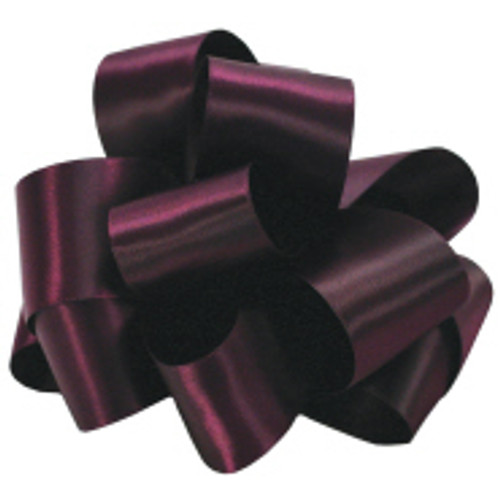 Eggplant Double Faced Satin Ribbon