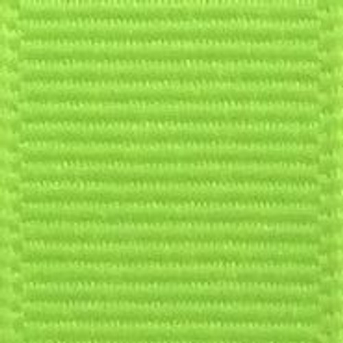 Neon Lime Solid Grosgrain Ribbon