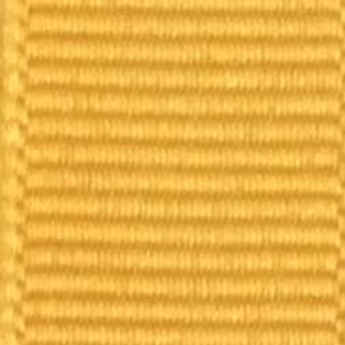 Yellow Gold Solid Grosgrain Ribbon