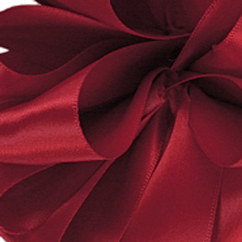 1/8 Dainty Scarlet Satin Ribbon