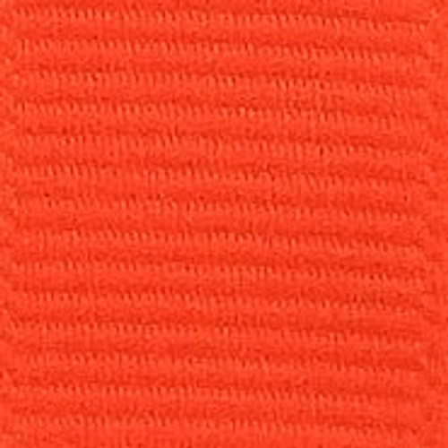 Neon Orange Solid Grosgrain Ribbon