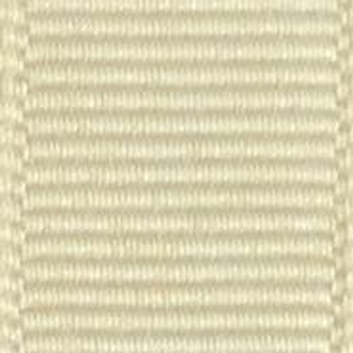 Cream Solid Grosgrain Ribbon