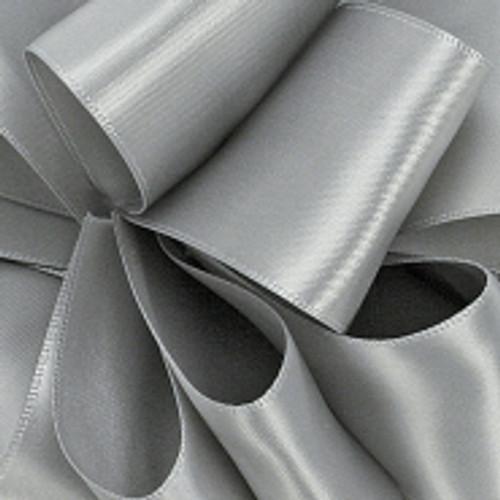 1/8 Silver Double faced Dainty Satin ribbon