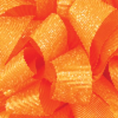 7/8 Torrid Orange Glitter Grosgrain available in 25 yd rolls.