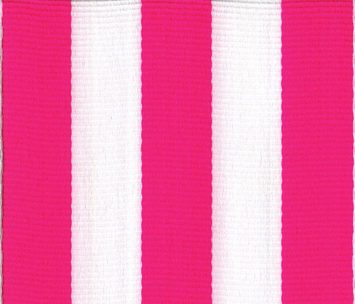 Pink Striped Grosgrain Ribbon