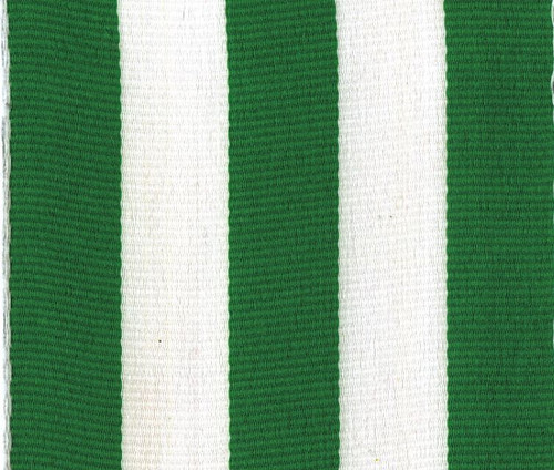 Wholesale Green Carnival Striped Grosgrain Ribbon
