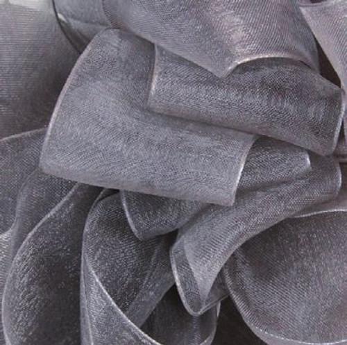 Pewter Sheer Fabric